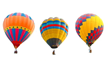 colorful hot air balloons isolated on white background Stock Photo - 13537704