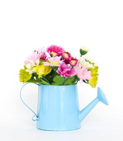decorative flowers isolated on white background photo