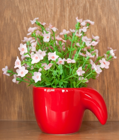 decorative flowers for office interior photo