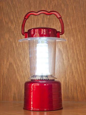 red lamp for interior decoration photo