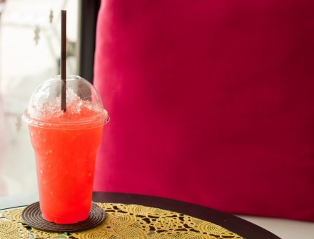 relax time with refreshing fruit punch in the cafe Stock Photo - 14044457