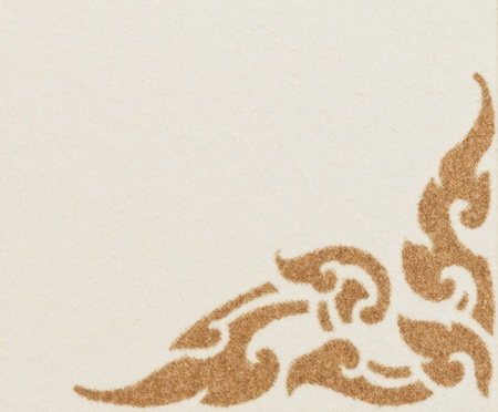 thai traditional pattern, ancient art on blank paper photo