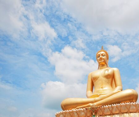 buddha statue with blue sky in thai temple Stock Photo - 14830802