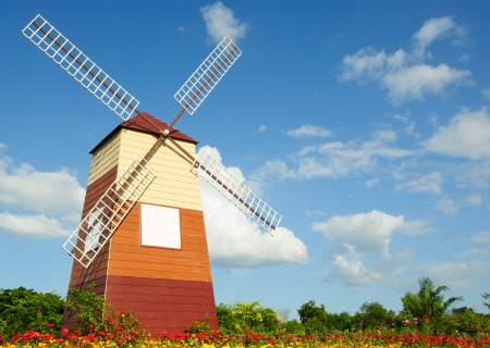 windmills with blue sky Stock Photo - 15995582