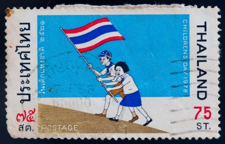 THAILAND - CIRCA 1978: a stamp printed by Thailand, shows Childrens day, circa 1978