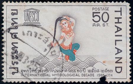 decade: THAILAND - CIRCA 1974: a stamp printed by Thailand, shows International hydrological decade, circa 1974 Editorial