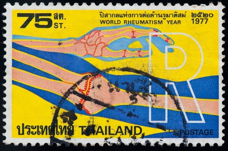THAILAND - CIRCA 1977: a stamp printed by Thailand, shows World rheumatism year, circa 1977