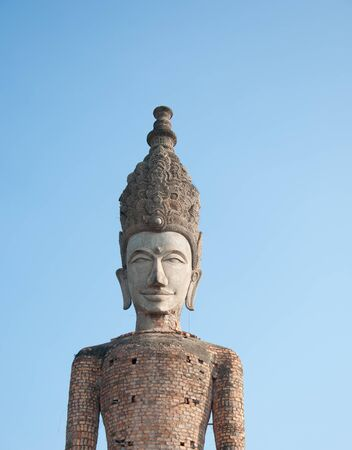 ancient statue in Sala Kao Kou, Nong khai, Thailand photo