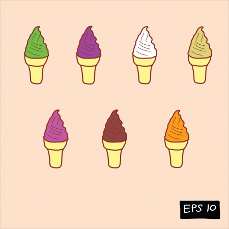 sherbet: colorful ice cream doodle set
