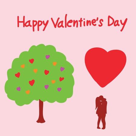 felling: happy valentine Illustration