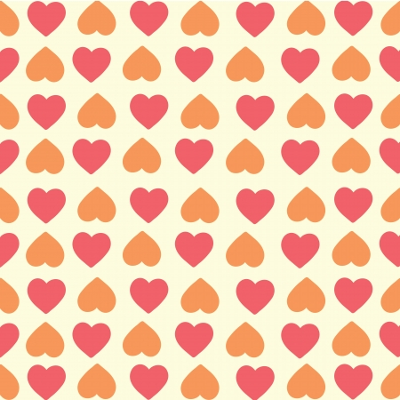 felling: red and orange hearts background, hand drawing