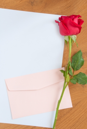 love letter concept on wood table Stock Photo - 17502496