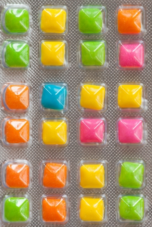 chewing gum: colorful chewing gums Stock Photo