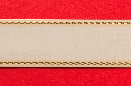 label with red invitation card Stock Photo - 17593419