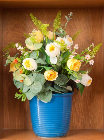 decoration artificial flower in home photo