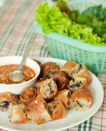 spring rolls with vegetables Stock Photo - 18014765