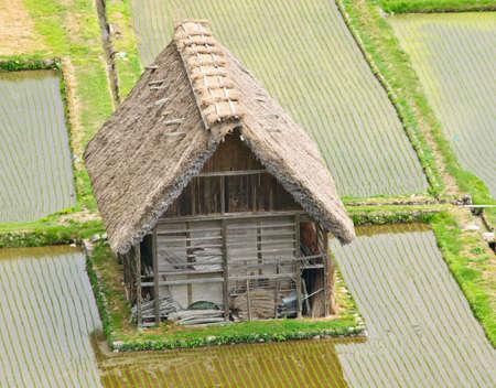 ogimachi: World Heritage, Historical Japanese Village - Shirakawa-go, Japan Stock Photo
