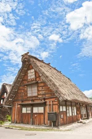 shirakawago: World Heritage, Historical Japanese Village - Shirakawa-go, Japan Stock Photo