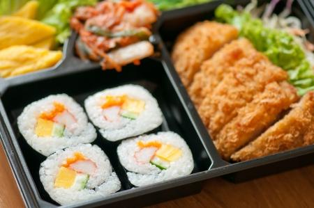 bento box: closeup of japanese bento box