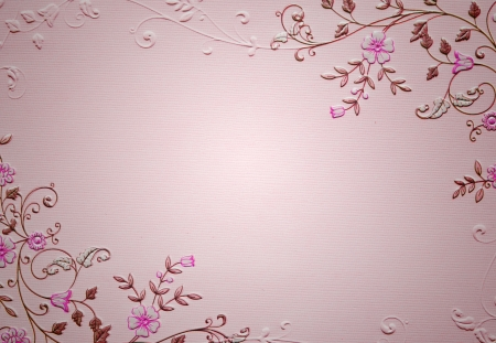 pink blank paper with flower pattern photo