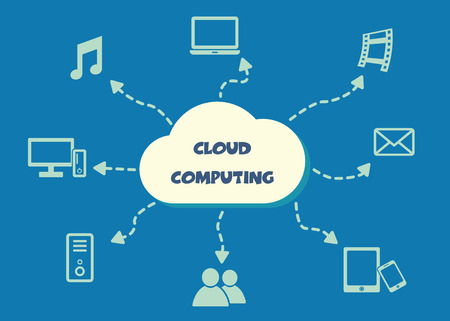 cloud computing concept, vector symbols Vector