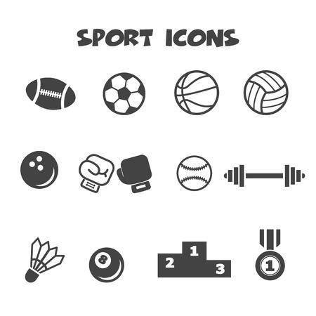 sport icons, mono vector symbols Vector