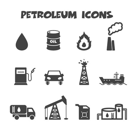 tank car: petroleum icons, mono vector symbols