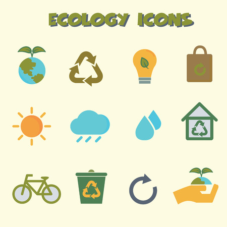 wind icon: ecology icons, colorful vector symbols