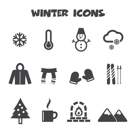 ic�nes d'hiver symboles