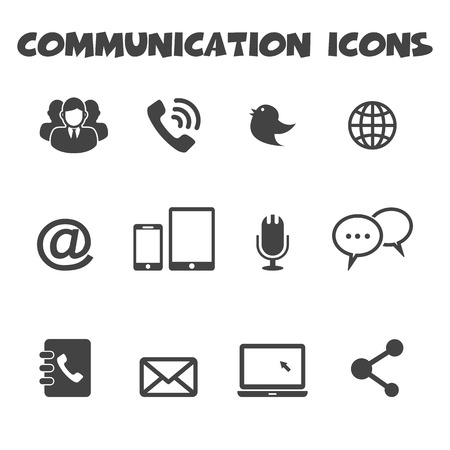 communication icons symbols Vector