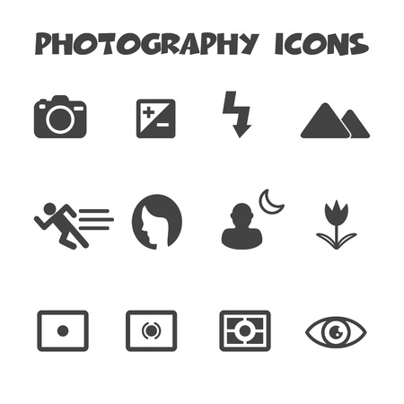 photography mode icons symbols Vector