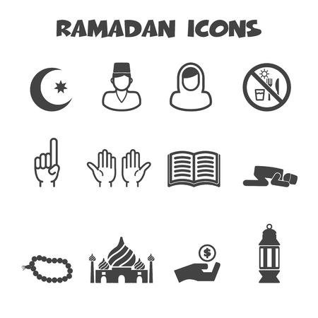 ramadan icons symbols Vector