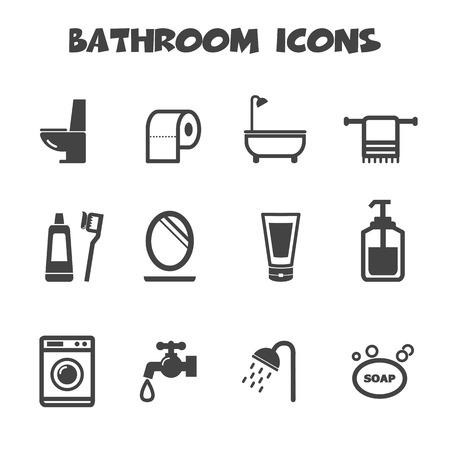 papel de baño: iconos baño símbolos