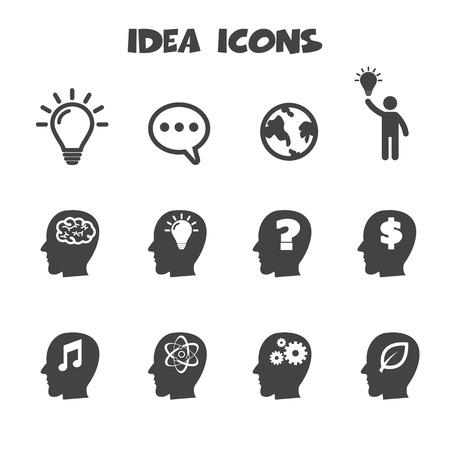 pensando: idéia ícones símbolos