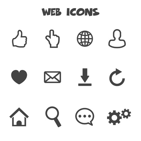 web icons, mono vector symbols