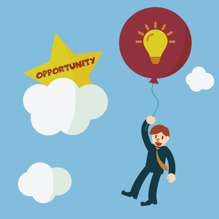 opportunity concept: idea to opportunity, vector concept
