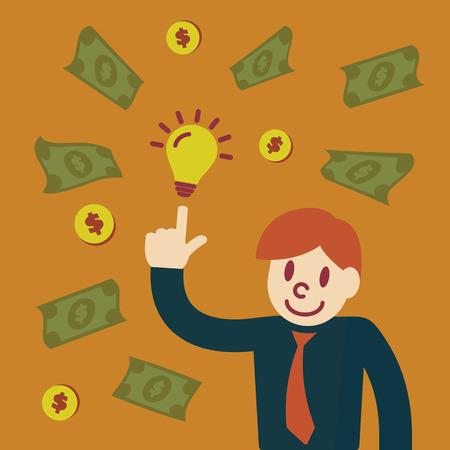 make money: make money with idea, vector concept