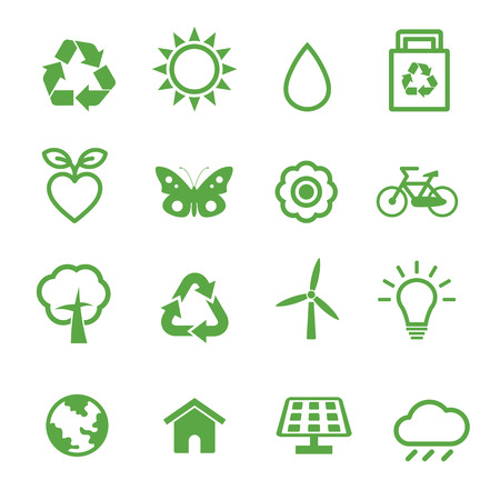 environment icons, ecology concept Vector