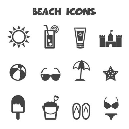 sonnenbrille: Strand-Symbole, Mono-Symbole