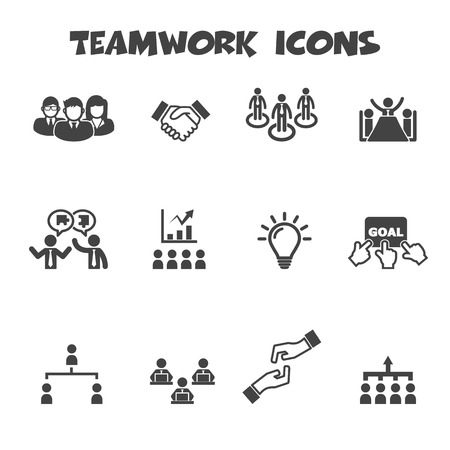 teamwork icons Vector