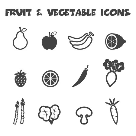 fruit and vegetable icons Vector