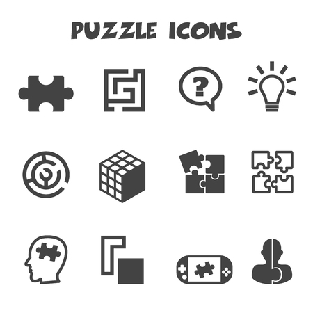 vision problems: puzzle icons