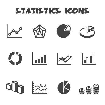 line graph: statistics icons
