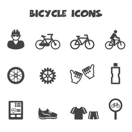 bicycle icon: bicycle icons