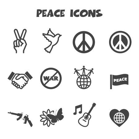 world war two: peace icons