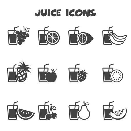 juice icons, mono vector symbols Vector