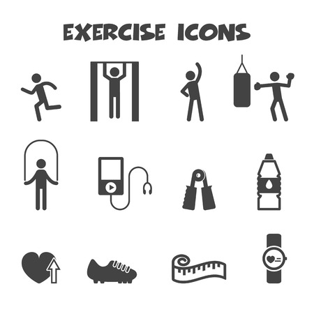 drink tools: exercise icons, mono vector symbols Illustration