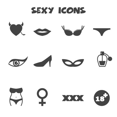 sexual woman: sexy icons Illustration