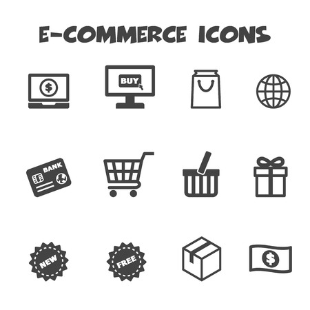 e-commerce icons Ilustração