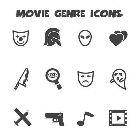 thriller: movie genre icons Illustration